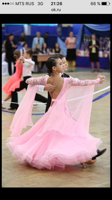 Фото платья для бально спортивных танцев юниоры-1