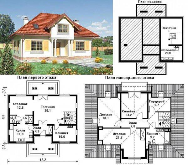 Бесплатные проекты домов из