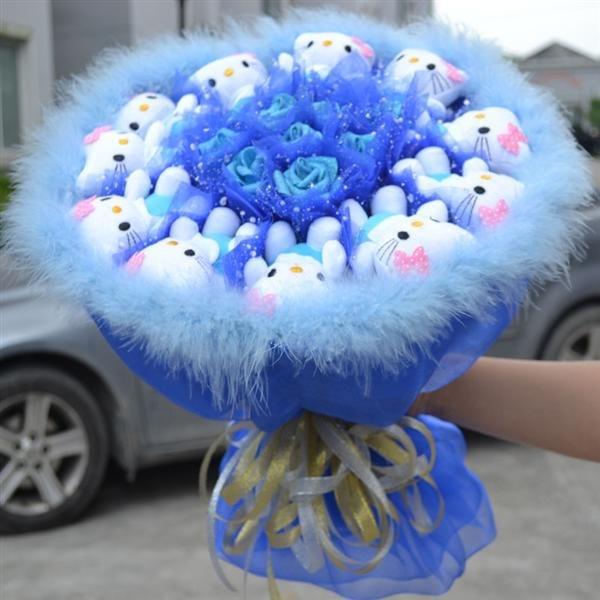 Плюшевые букеты с доставкой живые цветы на машину